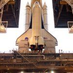 NASA space shuttle on crawler transport
