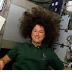 NASA astronaut Laurel Clark aboard Columbia STS-107